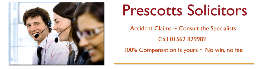 Prescotts Personal Injury Accident Claims Specialists in the West Midlands